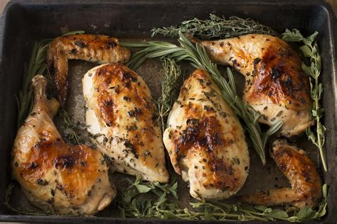 Roasted Chicken With White Wine & Fresh Herbs  Cake 'n Knife