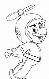 Mario Propeller Coloring Hat Lineart Sulfura Deviantart Template sketch template