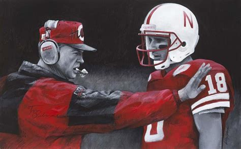 tunnel walk painting honors husker heroes foltz