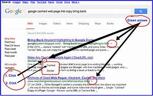 "How can I bring back the Google ""cached version"" links ..."