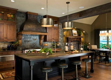 warm kitchen designs d 233 coration cuisine cagne accueillante et chaleureuse 3352