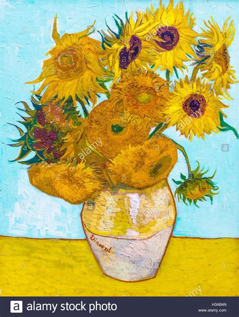 Sunflowers By Vincent Van Gogh 1853 1890 Oil On Canvas