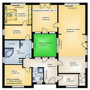 Atrium Bungalow Grundrisse : atrium 153 14 bungalow einfamilienhaus neubau massivbau stein auf stein ~ Bigdaddyawards.com Haus und Dekorationen