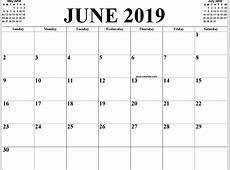 June 2019 Calendar Template 2018 calendar printable