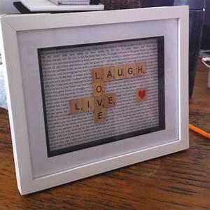 Scrabble Buchstaben Deko : make scrabble letter frame basteln pinterest scrabble geschenke und selbstgemacht ~ Yasmunasinghe.com Haus und Dekorationen