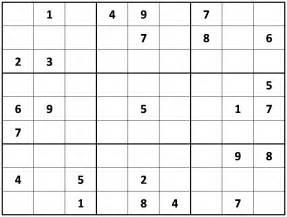 Printable Hard Sudoku Puzzles