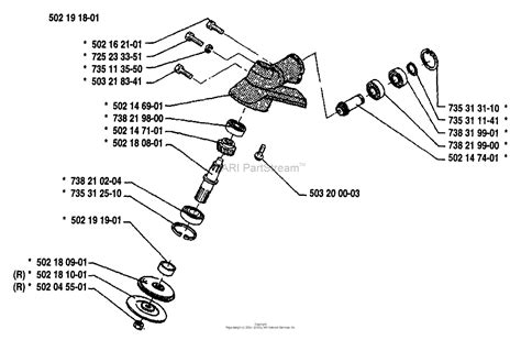 Gear Line Diagram by Husqvarna 25 R 1988 09 Parts Diagram For Gear Assembly