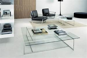 Small glass coffee tables create accessible home ideas for Two small tables instead of coffee table