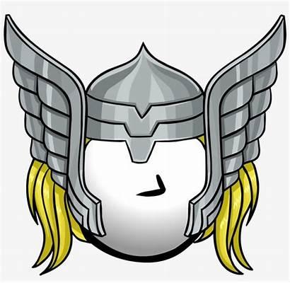 Thor Hammer Cartoon Clipart Clip Mjolnir Helmet