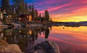 HD Awesome Lake House Desktop Wallpapers