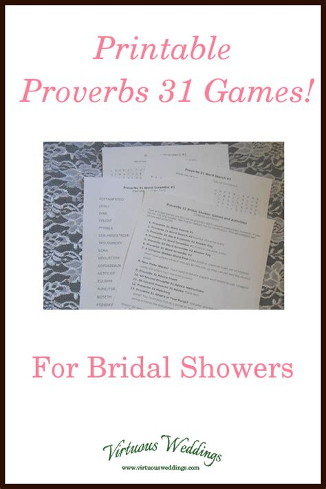 printable proverbs  bridal shower games  images