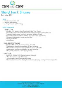 assisted living caregiver resume ppt senior caregivers resume