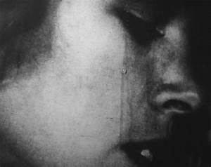 black and white, cry, crying, dark, despair, face - image ...