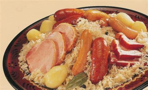 alsace cuisine traditionnelle choucroute the foods