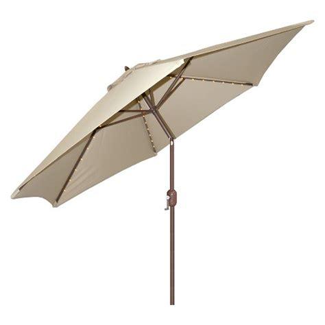 led outdoor umbrella 9 aluminum led lighted crank lift patio umbrella 3710