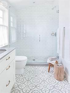 le carrelage metro en 40 idees deco With carrelage salle de bain avec motif