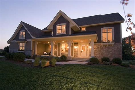 two house plans with front porch craftsman style house plan 4 beds 3 5 baths 2909 sq ft