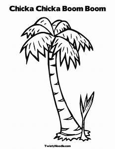 printable palm tree chicka chicka boom boom pinterest With chicka chicka boom boom palm tree template