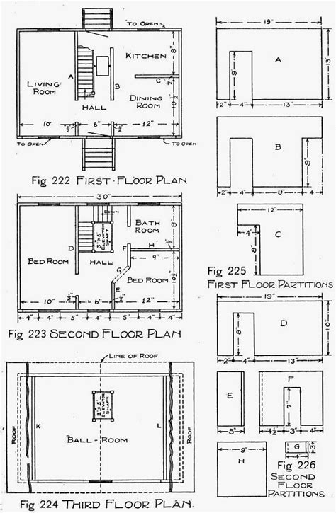 wooden doll house plans     wooden doll house