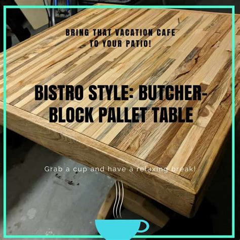 Butcher Block Two pallet Bistro Table ? 1001 Pallets