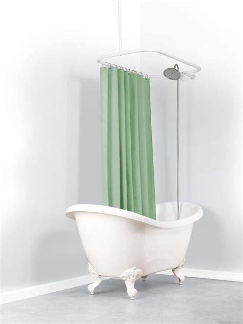 clawfoot tub shower curtain rod 50 tips ideas for choosing clawfoot bathtub accessories