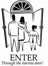 Narrow Door Coloring Gate Bible Luke Wide Children Pages Enter Preschool Through Many Gates Parable Jesus Effort Every Sermons4kids Colouring sketch template