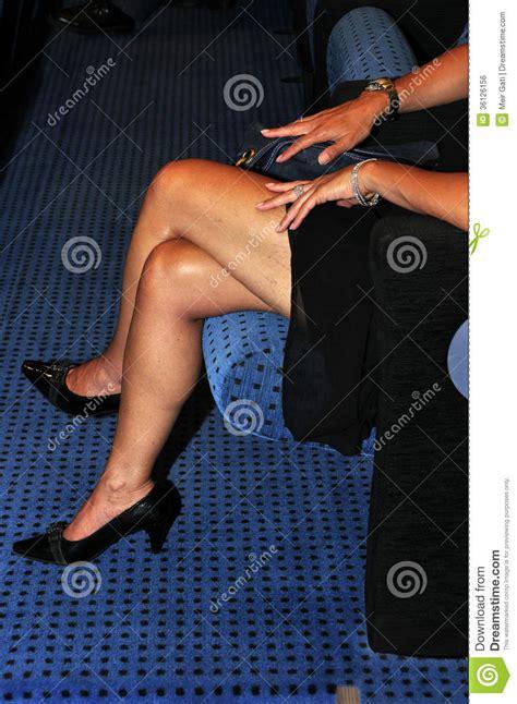 crossed legs royalty  stock image image