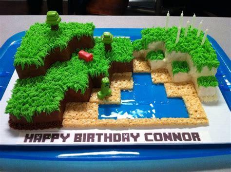 minecraft world cake grass  sea scouts pinterest