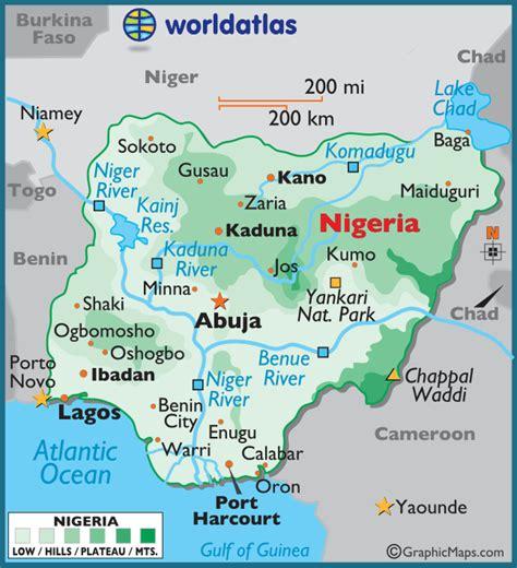 map  nigeria federal republic  nigeria maps mapsofnet