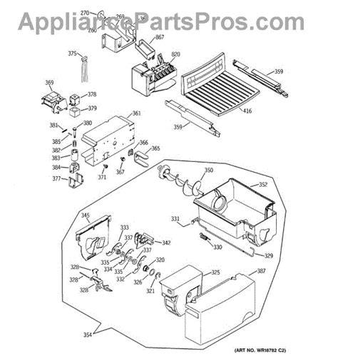 parts  ge gssjfmbww ice maker dispenser parts appliancepartsproscom