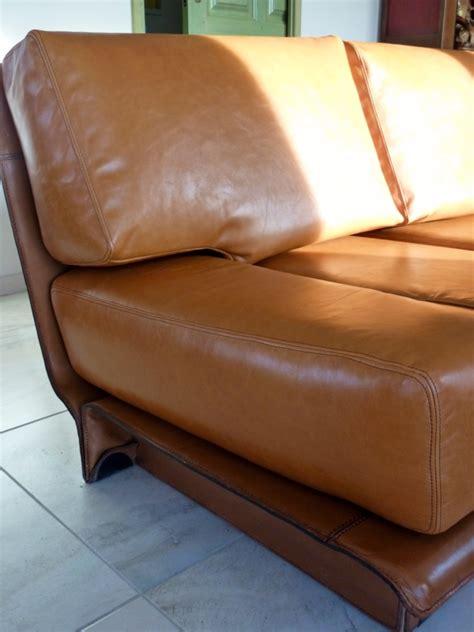 réfection d 39 un canapé en cuir au fil des matières