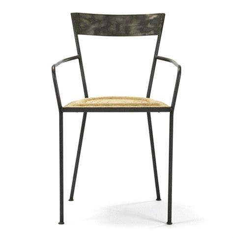klaas industrial modern steel burlap seat dining arm