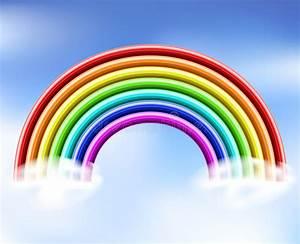 3d Rainbow In The Sky Stock Vector  Illustration Of Orange