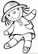 Doll Coloring Pages Animal sketch template