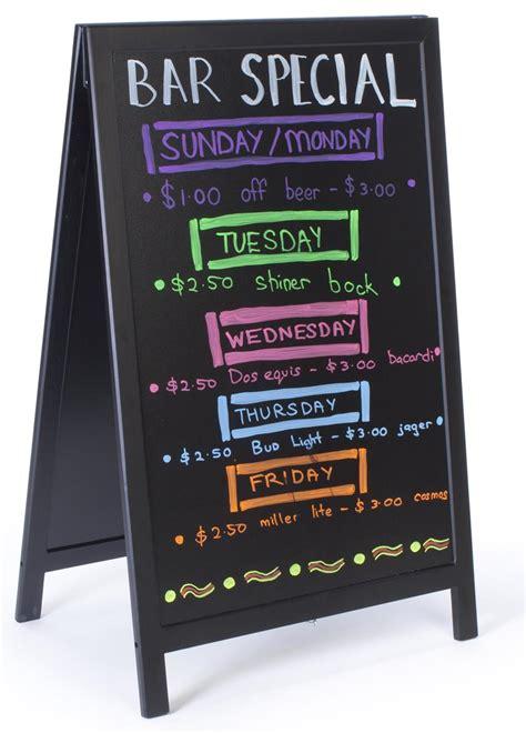sidewalk chalkboard wet erase board  marker writing