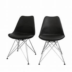 Chaise Design Metal : lot de 2 chaises design nielsen steel par ~ Teatrodelosmanantiales.com Idées de Décoration