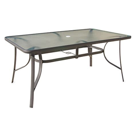 wilson fisher patio table wilson fisher 38 quot x 64 quot rectangular glass dining table