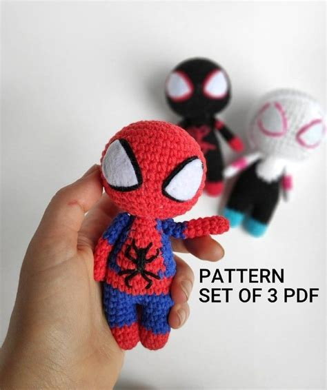 spiderman miles morales spider gwen crochet pattern