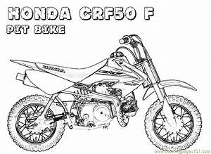 honda bike coloring page free bikes coloring pages With honda 50cc pit bike