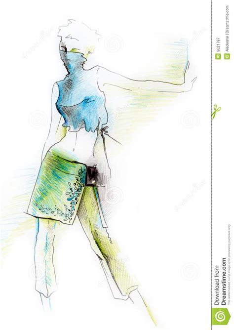 dynamic fashion figure royalty  stock photography