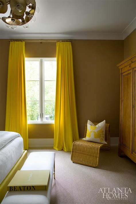 yellow bedroom curtains contemporary bedroom
