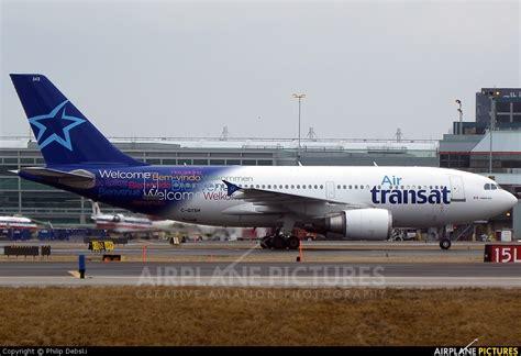 c gtsh air transat airbus a310 at toronto pearson intl