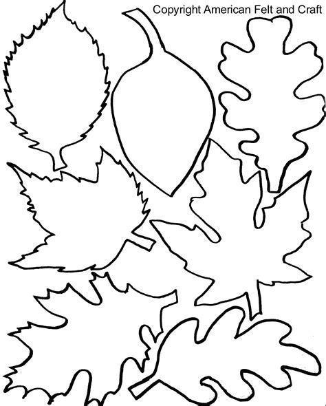 fall felt leaves  templates american felt craft