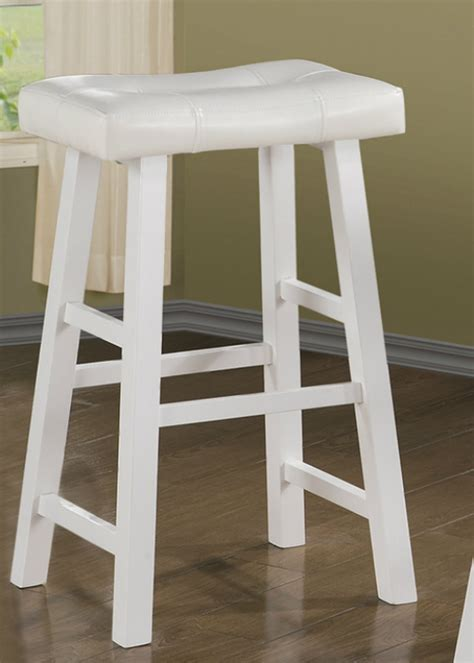 White Wood Stool - white wood bar stool a sofa furniture outlet los