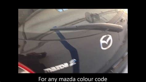 find  mazda colour code  easy  youtube