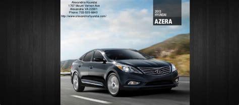 Hyundai Virginia by 2013 Hyundai Azera Brochure Virginia Hyundai Dealer