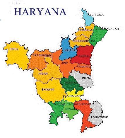 map  haryana haryana map