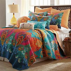 Reversible, Bohemian, Damask, Quilt, Set, Bedding, Comforter, Bed