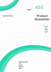 Newsletter cover page free newsletter cover page templates for Cover page template