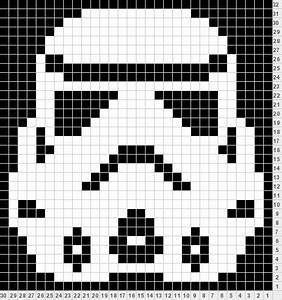 Star Wars Decke : storm trooper perler bead pattern can be converted to granny squares this is a knitted pattern ~ Orissabook.com Haus und Dekorationen